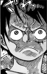 Reaksi Luffy mendengar celotehan Caesar