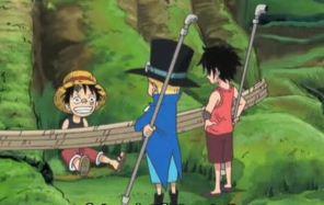 Luffy mengajak sabo berteman