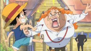 Luffy mengejek Dadan